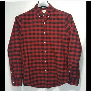 J Crew Slim Button Front Buffalo Plaid Shirt Small